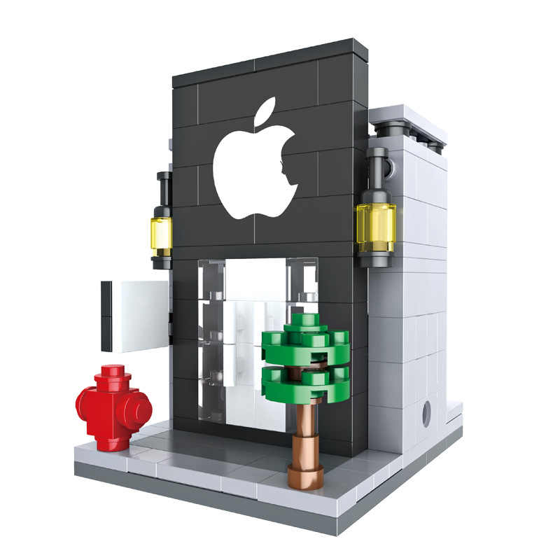 Tám khác nhau cửa hàng với cùng một thương hiệu Legoings Khối Xây Dựng Đồ Chơi Kit DIY Giáo Dục Trẻ Em Giáng Sinh Quà Tặng Sinh Nhật