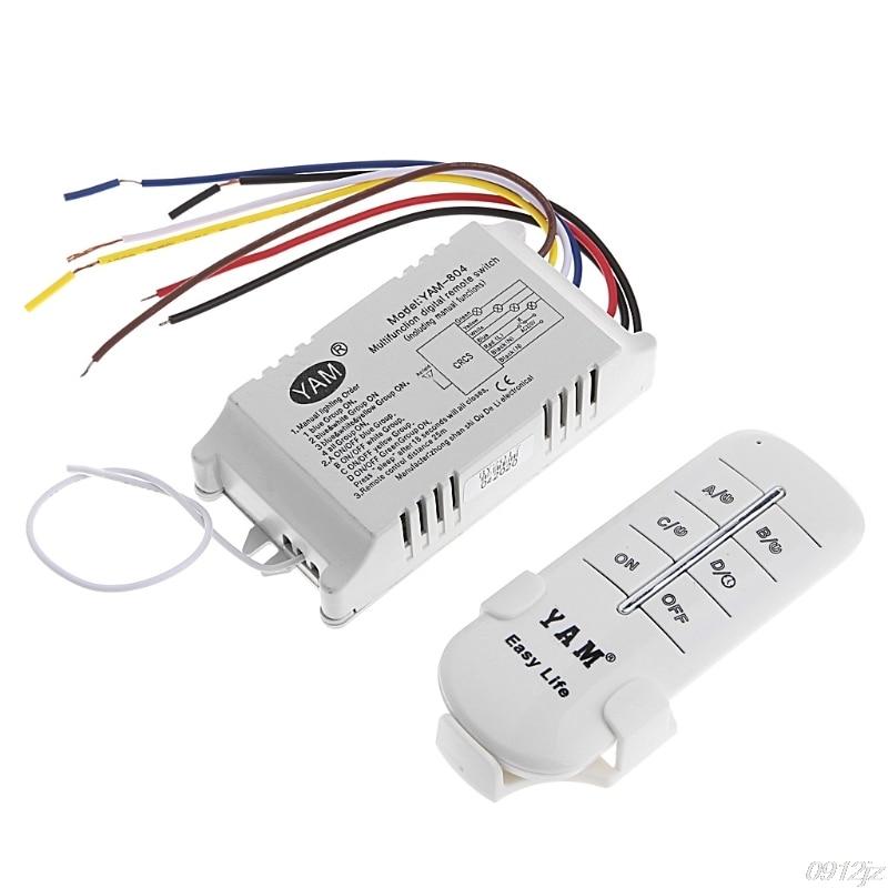 Беспроводной Выключатель с дистанционным управлением, 220 В, 1/2/3/4 канала, передатчик C90A, Прямая поставка