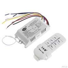 220 v 1/2/3/4 maneiras sem fio ligar/desligar lâmpada interruptor de controle remoto receptor transmissor c90a novo navio da gota