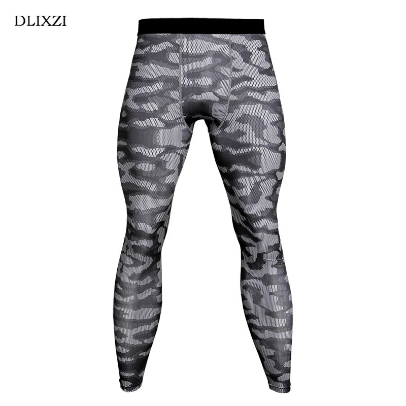 DLIXZI Camouflage Compression Pants Men Elasticity Tight gyms Sporting Leggings Fashion Jogger Fitness Workout Camo Trousers