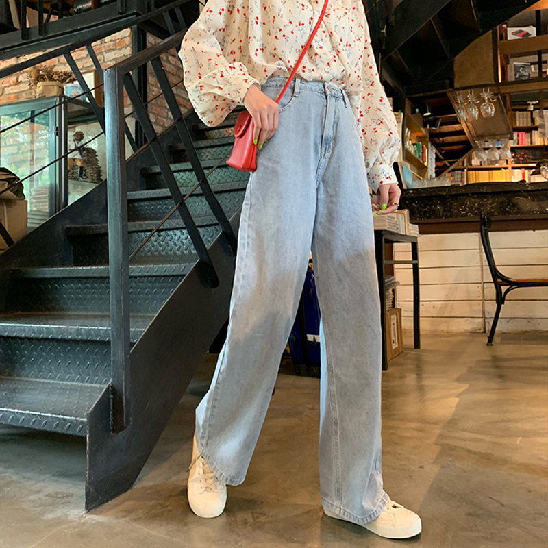 Jeans Women Pockets Trendy Elegant All-match High-quality Korean Style Students Leisure Daily Womens Female Lovely Simple 2019