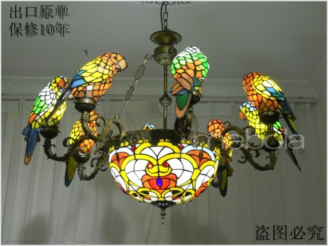 European pastoral parrot bull bracket lamp chandelier lighting european pastoral parrot bull bracket lamp chandelier lighting tiffany boutique hotel restaurant cafe lights aloadofball Gallery