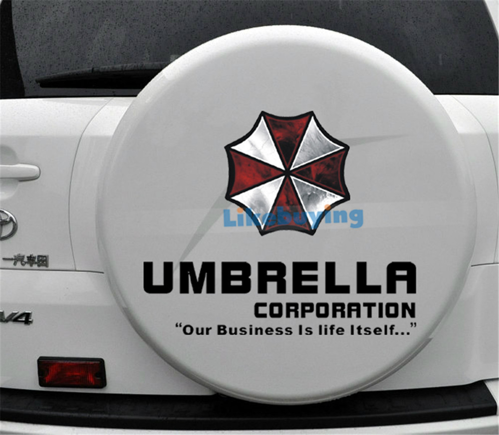Sticker designs for car - Free Shipping 1 Piece Of Car Stickers Resident Evil With Umbrella Design Car Styling