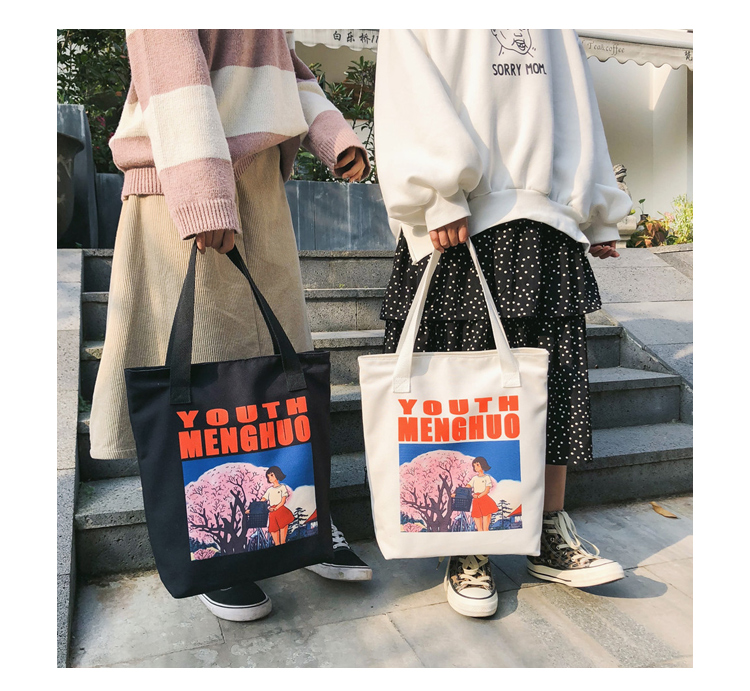 2018 Autumn & Winter Women Canvas Shoulder Bag Printed Ladies Vintage Handbag Totes Female Shopping Bags Beach Bag Women Handbag_24 (1)