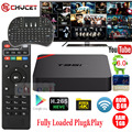 Chycet S905X T95N Android 6.0 Smart TV Box Amlogic 64 bit Quad Core 4 K 2 K H.265 IPTV Set-top box Mini MX plus PK X96 + teclado