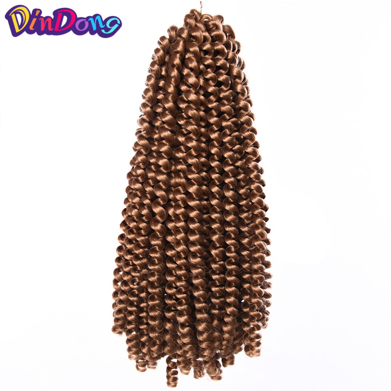 DinDong 8inch Crochet Braids Hair Extensions Spring Twist Kanekalon Short Synthetic 7 colors 30stands/packs