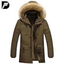 Winter New Style Warm Men's Jacket Parka Thick Warm Fur Collar Long Cotton Jacket Men Comfortable Cotton Hooded Parka Men цена 2017