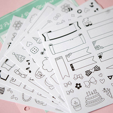 6 Sheets lot Calendar Paper Sticker Diy Scrapbooking Diary Sticker Kawaii Stationery Toy For Kids