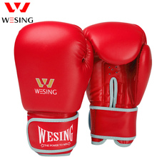 цены Professional 8 10 12 14 16 Oz Leather Ladies Kick Boxing Gloves Women MMA Muay Thai Fight Glove luva de box