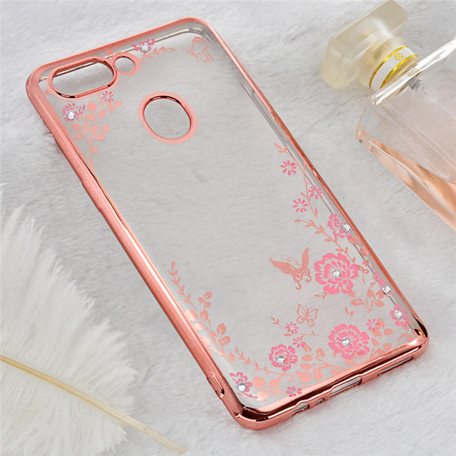 buy popular ad020 faf91 US $3.39 |For Oppo R15 Pro Case For OPPO R15 Dream Mirror Edition Diamond  Flowers Secret Garden Glitter Soft TPU Cover For OPPO R15 (L1121-in Fitted  ...