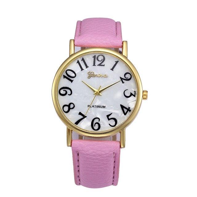 Hot Fashion femmes montres gros numéros rétro en cuir femmes montre-bracelet pour vieil homme et enfant arabe montre Top femme cadeaux # A 2