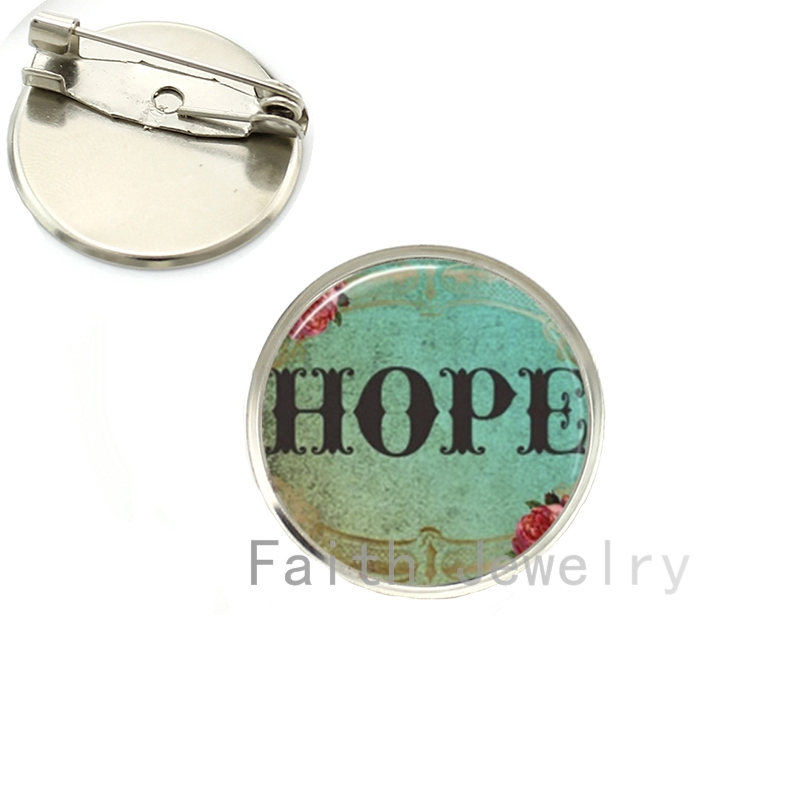 US $1 95 35% OFF JOINBEAUTY Faith Believe Hope Handmade Brooch Pins  Religious Christian Jewelry Inspirational Charm Spiritual brooches NS104-in
