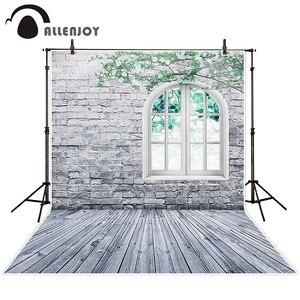 Image 2 - Allenjoy fotografie hintergrund weiße ziegel wand fenster Zweig frühling hintergrund studio kinder prinzessin mädchen econ vinyl photophone