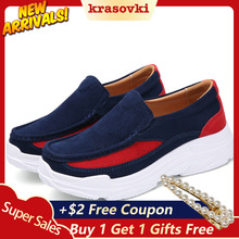 Krasovki Platform Shoes Casual Women Slip on Creepers Sneakers moccasins Suede Loafers new sneakers Slipony
