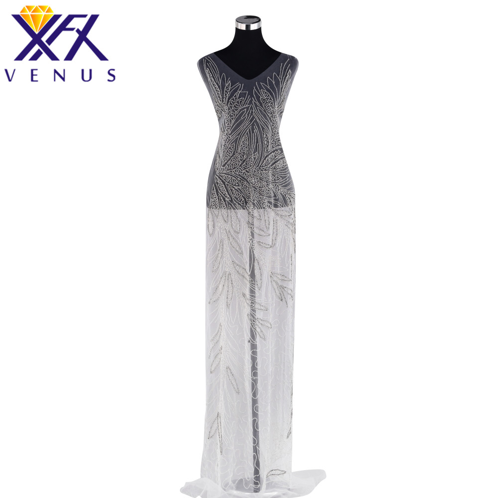 XINFANGXIU Bridal Crystal Beaded Bodice Patch for Wedding Dress Rhinestone Patch Applique Bodice Trimming Sewing On