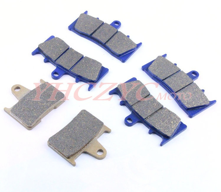 For SUZUKI GSX1400 2001-2007 motorcycle front and rear brake pads set  motorcycle front and rear brake pads for suzuki gsx 1400 gsx1400 k1 k2 k3 k4 k5 k6 k7 fe 2001 2007 black brake disc pad