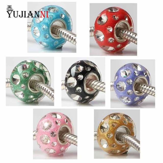 1a5e6f8b2266e US $7.45 |925 Sterling Silver Hole Handmade Polymer Clay Murano Glass Charm  Beads Fit European Brand Bracelet & Necklace Jewelry-in Beads from Jewelry  ...