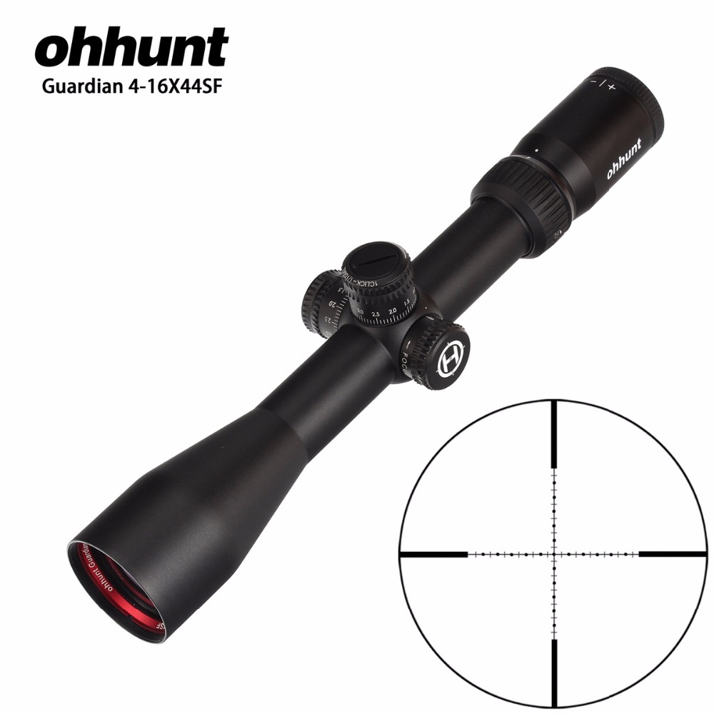 Hunting ohhunt Guardian 4-16X44 SF Rifle Scope 1/2 Half Mil Dot Reticle Side Parallax Turrets Lock Reset Tactical Riflescopes
