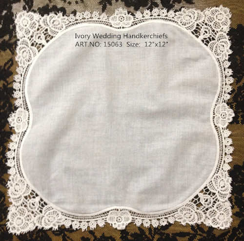 "Pañuelos de mujer a la moda 12 piunids/lote 12x12 ""marfil 100% algodón boda pañuelos bordado Ivoy crochet encaje para regalos"