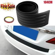 Protetor de borda traseira do tronco do carro de 104cm * 9cm protetor de borracha pára-choques suv extra largo automóvel