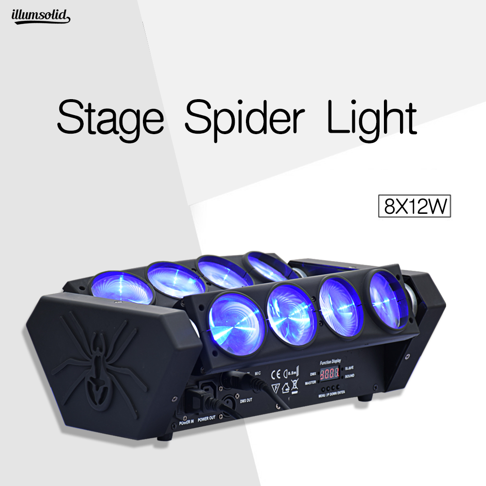 Lyre Spider Beam Mini 8X12W Led Moving Head Light Dj Nightclub Bar Disco Light