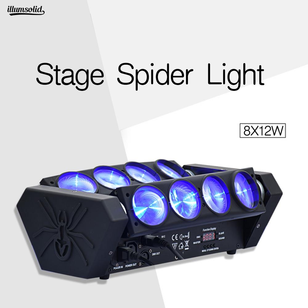 Lyre Spider Beam Mini 8X12W Led Moving Head Light Dj Nightclub Bar Disco Light