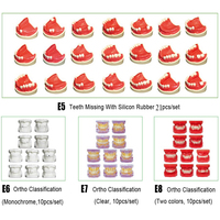 Dental Missing model With Silicon rubber dental orthodontic model teeth Classification for Dental study
