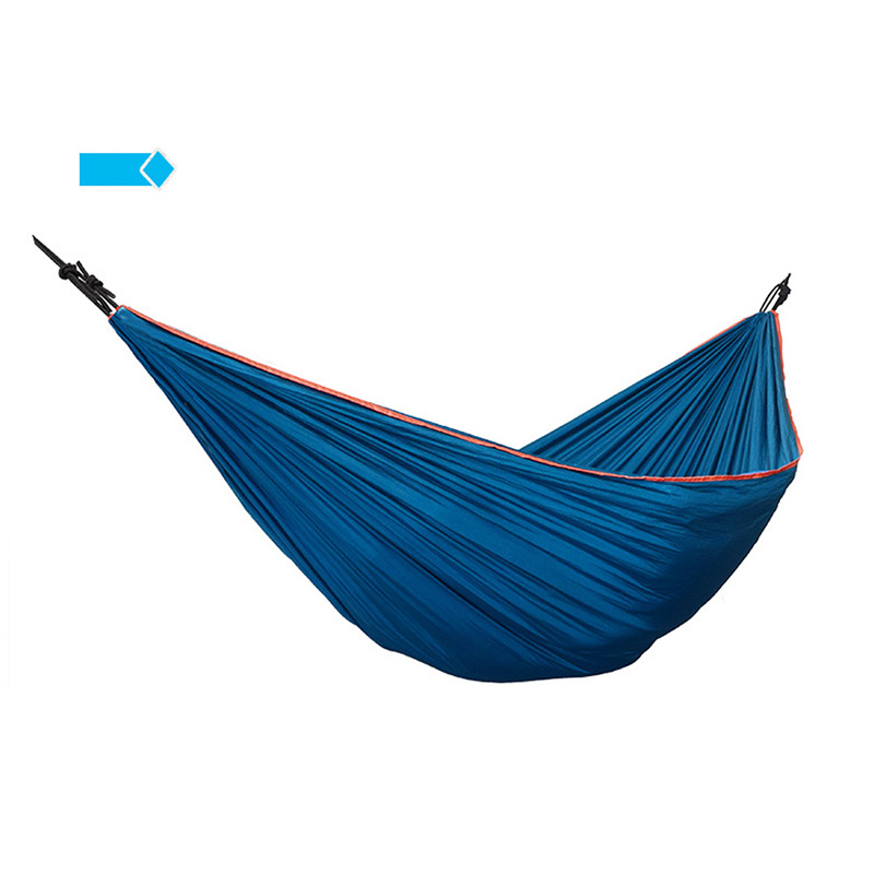 Nylon Fabric Portable Hammock Double Person Camping Hammock Leisure Hanging Chair Outdoor Blue Sleeping Bed Garden Travel 2017 portable nylon garden outdoor camping travel furniture mesh hammock swing sleeping bed nylon hang mesh net