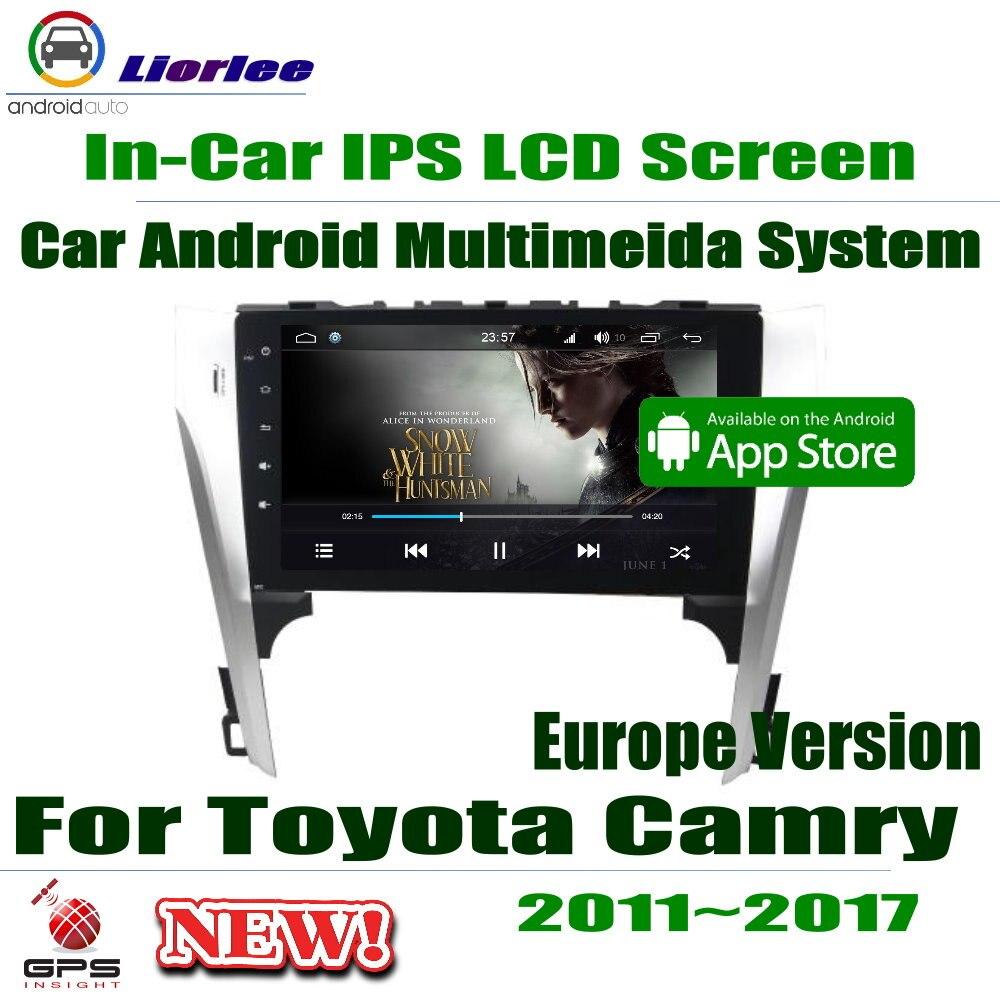 Lecteur Android de voiture pour Toyota Camry Aurion 2011 ~ 2017 Europe Version 10.1