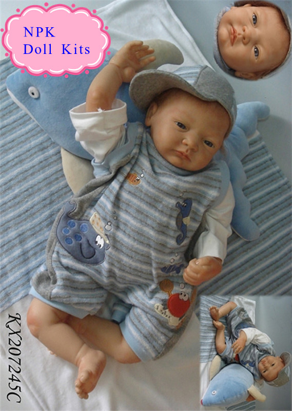 цена на Enducational 20inch 51cm Silicone Reborn Baby Doll Kits Made By EU Standards Vinyl Material Popular Among Children To DIY Dolls