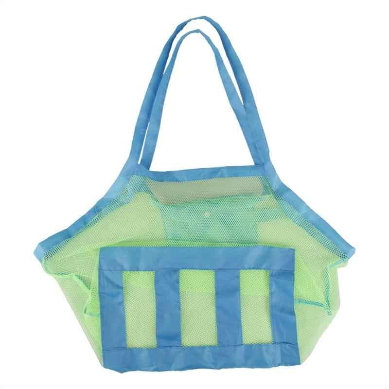 Креативная детская пляжная сумка для переноски, пляжный органайзер для игрушек, большая Сетчатая Сумка для хранения детей, коллекционная сумка, подвесной органайзер 60X