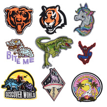 New Dinosaur Jurassic Park Patch Stalk Embroidered Patches Ironing Stickers For Clothes Iron On Movies Parches Anime