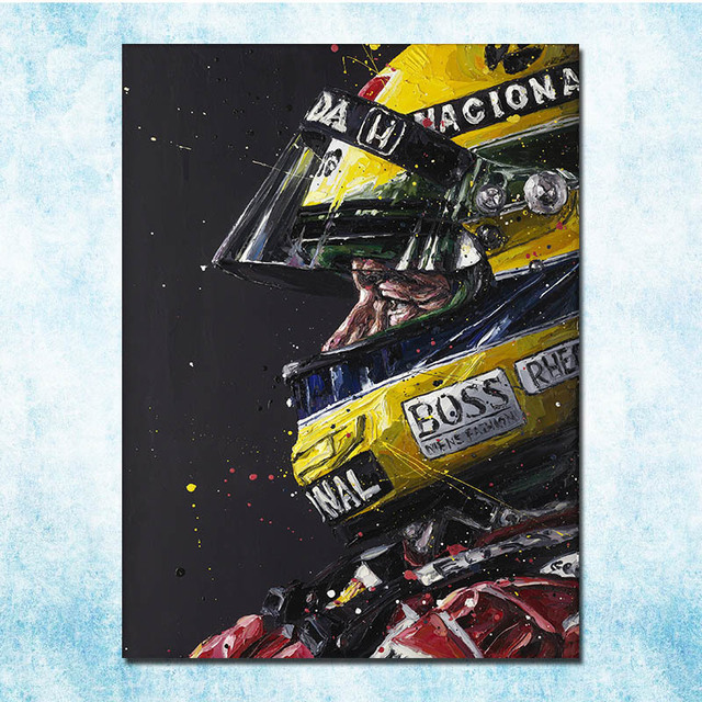 Ayrton Senna F1 Racing Champion Silk Canvas Poster 13×18 24×32 Inches Home Wall More-3