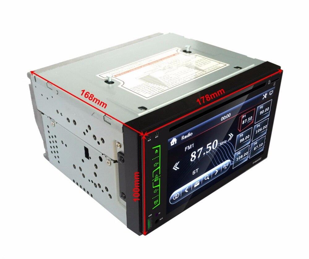 """imágenes para 6.2 """"coches Reproductor de DVD Bluetooth Stereo Radio 2 Din Reproductor Multimedia apoyar el Control Del Volante CD MP3 FM AM USB SD AUX-IN"""