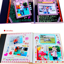 DIY Self Adhesive Photo Album Welding Gift Loose-leaf Yearbook Creative Baby Album DIY Graduation Scrapbooking For 5 6 7 8Inches
