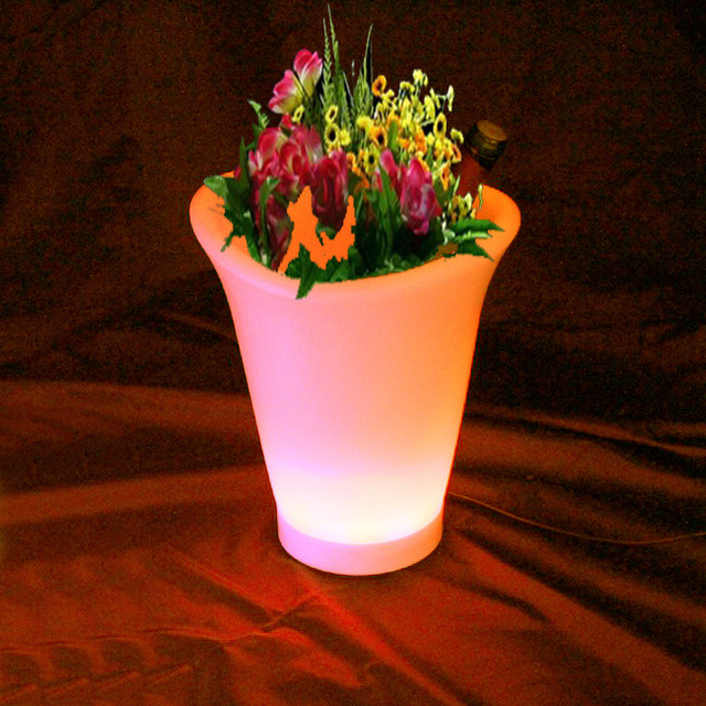 skybess led bloempotten light up bloem planter pot verlichting bar decoratie led wijn ijsemmer met led