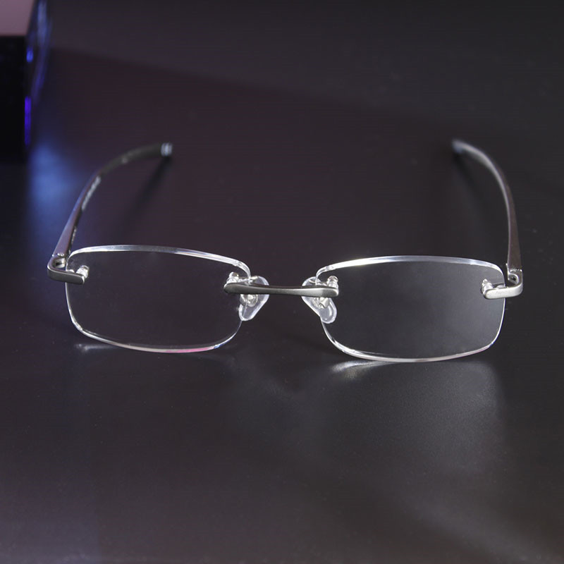 Ultra light Aluminium Magnesium Reading Glasses Rimless Reading Glasses Men Women Eyewear 10Pcs Lot Diopter 1