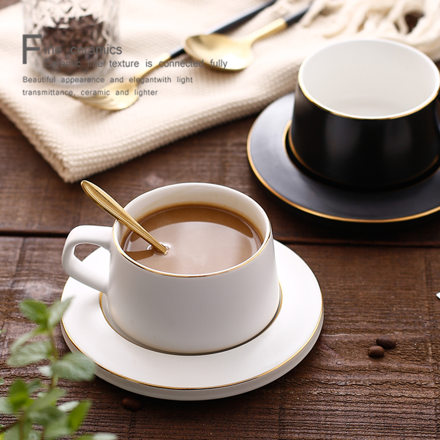 Nordic Reusable Coffee Cup Set Espresso Cups Water Fine Bone China Cup Cute Cappuccino Cup Christmas Crockery Home 50T019 in Coffee Cups Mugs from Home Garden
