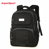 Aspensport Men Large Capacity 17Inch Laptop Bag Black Backpack Waterproof School Bags Fashion Travel High Quality