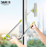 DARIS Window Cleaning brush Microfiber Extension Squeegee Cleaner Detachable Microfiber Brush With Aluminum Alloy Extension Pole
