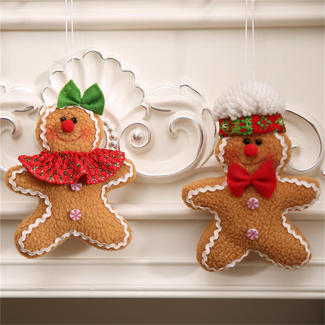 gingerbread man christmas tree diy hanging pendant ornaments navidad x mas tree decorative hanging drops