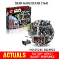 LEPIN 05035 Star Wars Estrella de La Muerte de Bloques de Construcción Ladrillos Kits anime figuras Juguetes divertidos para niños Compatibles Starwars 10188 05033