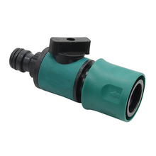 Plastic Valve with Quick Connector Agriculture Garden Watering Prolong Hose Irrigation Pipe Fittings Hose Adapter Switch 1 Pc cheap Garden Water Connectors 10272 ANSI Talk-Satisfied Quick connectors with valve alve with Quick connectors Black and Green