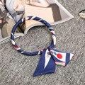 2017 New Multi Function Silk Euro Nations Colorful Scarf Small Scarves Headband Wristband Cute Lady Girls Scarf Loop Shawl