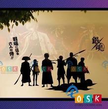 Japonesa de Dibujos Animados GINTAMA VENTILADORES de Pared de Vinilo Sticker Decal Decoración