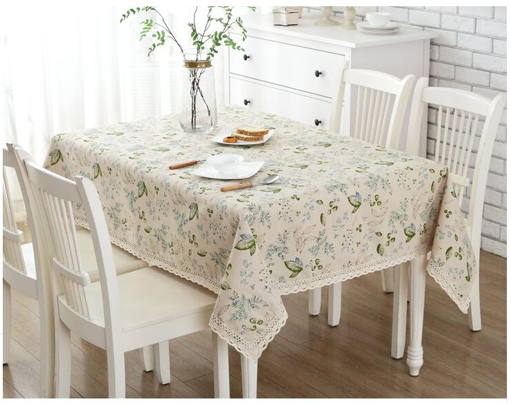 Free Shipping Cotton Tablecloths Rectangular Rich Vine Flowers Garden Table  Cloth Home Cover Towel Piano Cover