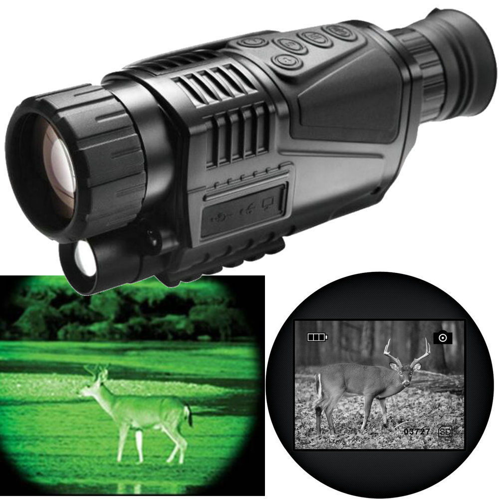 5X40 Tactical Digital IR Infrared Hunting Night Vision Goggles Scope Night Vision Monocular Hunt Night Riflescope Telescope 4GB