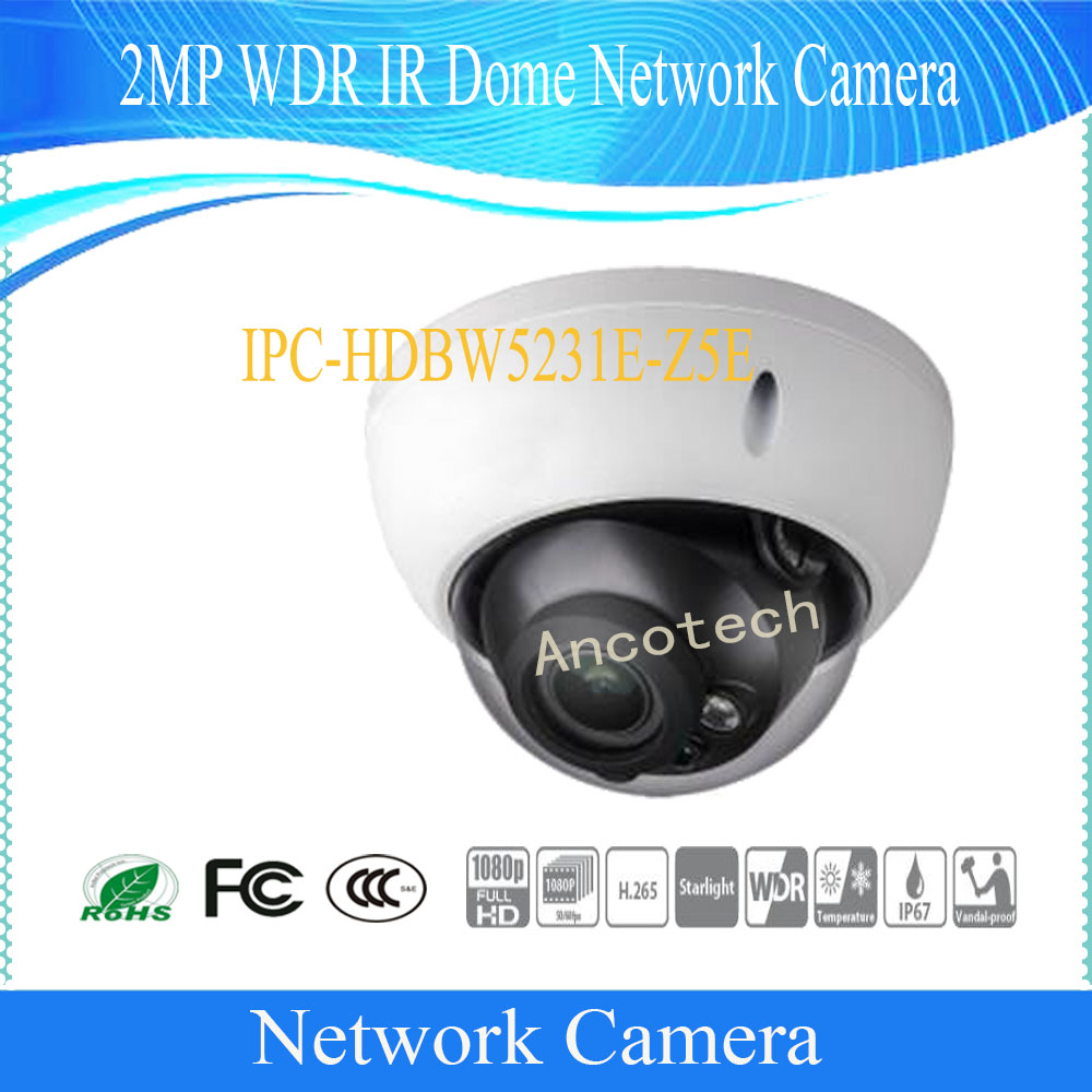 DAHUA Waterproof IP Camera 2MP WDR IR Dome Network Camera IP67 IK10 With POE+ DH IPC HDBW5231E Z5E
