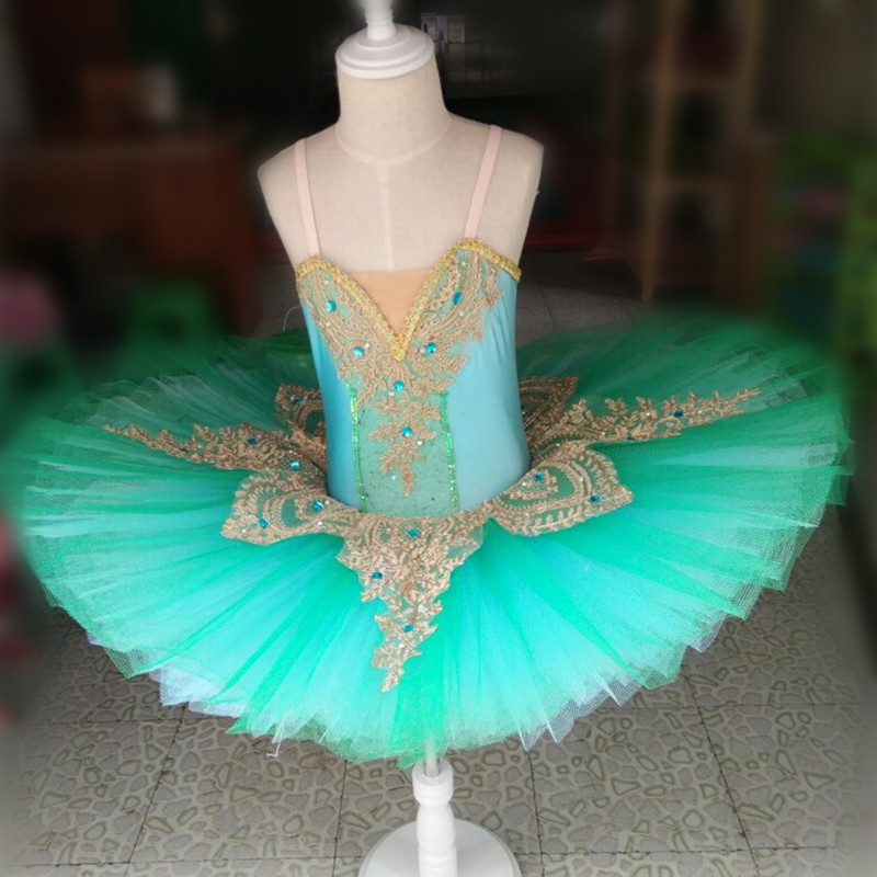 Custom Style Faymoolon Adult Professional Swan Lake Tutu Ballet Costume Women Hard Organdy Platter Sleeping Beauty Dress 7 Layer
