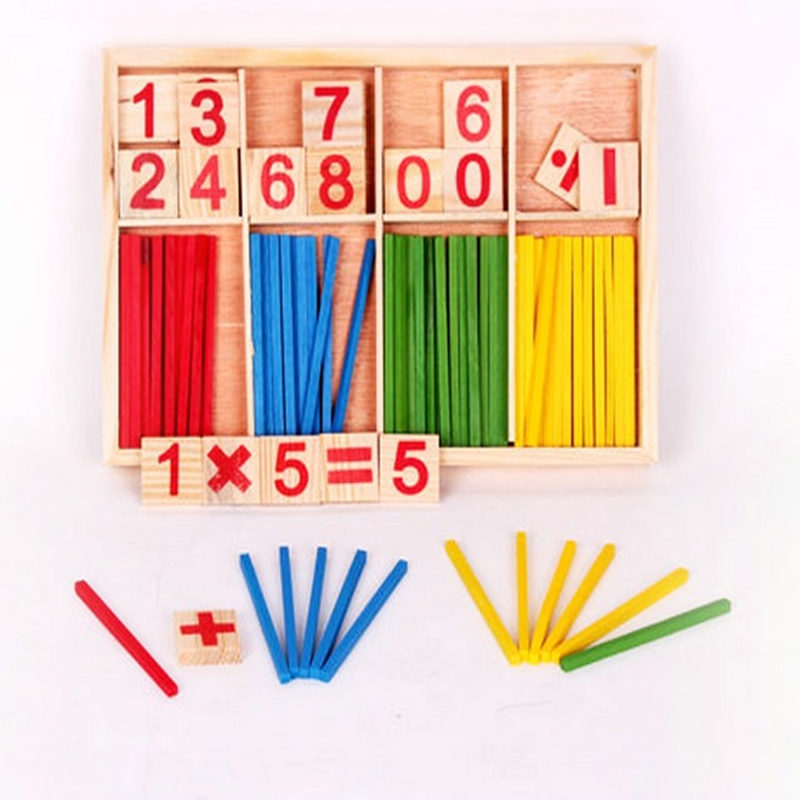 Wooden box JJW01 Intelligent Stick color digital learning computing game early childhood toys